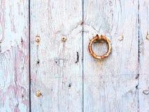 puerta de madera, detalle Fotografía de archivo