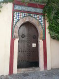 Puerta de madera en España Fotografía de archivo libre de regalías