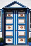 Puerta de madera hermosa Imágenes de archivo libres de regalías