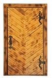 Puerta de madera histórica Fotos de archivo