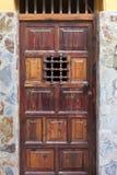 Puerta de madera histórica Fotografía de archivo libre de regalías
