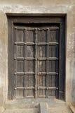 Puerta de madera india negra hermosa Fotos de archivo