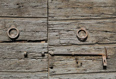 Puerta de madera italiana vieja Imagen de archivo libre de regalías