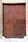 Puerta de madera medieval Fotografia de Stock