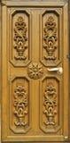 Puerta de madera tallada Imagen de archivo libre de regalías