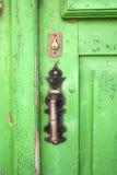 Puerta de madera verde Fotografía de archivo libre de regalías