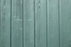Puerta de madera verde de la vertiente del grano Foto de archivo libre de regalías