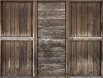 Puerta de madera vieja. Foto de archivo