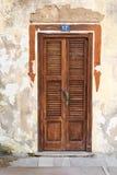Puerta de madera vieja Imagenes de archivo
