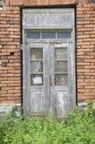 Puerta de madera vieja, Bulgaria Fotografía de archivo