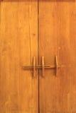 Puerta de madera vieja de Lanna Imagen de archivo libre de regalías