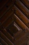 Puerta de madera vieja del vintage cerrada Fotografía de archivo