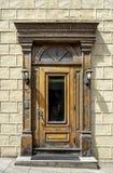 Puerta de madera viejo Quebec fotografía de archivo libre de regalías