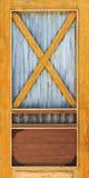 Puerta de madera y del cinc amarilla Imágenes de archivo libres de regalías