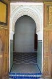 Puerta de Marrakesh del palacio de Bahía Imágenes de archivo libres de regalías