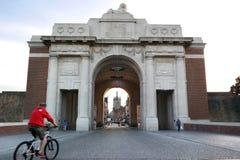 Puerta de Menin imagen de archivo libre de regalías