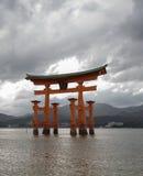 Puerta de Miyajima Torii Imagen de archivo libre de regalías