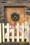 Puerta de Navidad Imagen de archivo libre de regalías