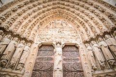 Puerta de Notre Dame de Paris Imagen de archivo