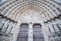 Puerta de Notre Dame de Paris Fotografía de archivo