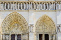 Puerta de Notre Dame de Paris Fotos de archivo libres de regalías