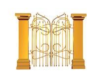Puerta de oro Foto de archivo libre de regalías