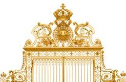 Puerta de oro aislada del palacio de Versalles Imagen de archivo