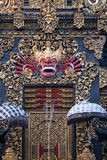 Puerta de oro de Bali Fotos de archivo libres de regalías