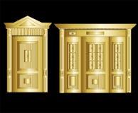 Puerta de oro de la cámara acorazada Ilustración del vector Imagen de archivo