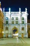 Puerta de oro en Gdansk (danzig), Polonia Foto de archivo libre de regalías