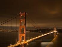 Puerta de oro en la noche Imagen de archivo