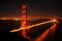 Puente Golden Gate en la noche Foto de archivo libre de regalías
