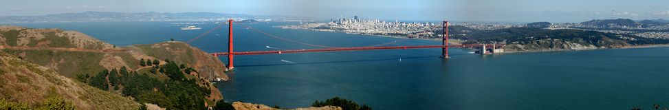 Puerta de oro y San Francisco Fotos de archivo