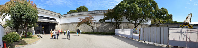 Puerta de Osaka Castle, Osaka Foto de archivo