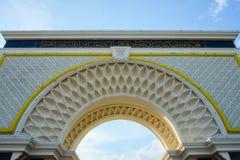 Puerta de Palace de rey real, Istana Negara Foto de archivo