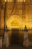 Puerta de Palos of Seville Cathedral royalty free stock images