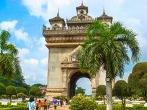 Puerta de Patuxai en Vientián Imagen de archivo libre de regalías
