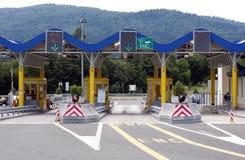 Puerta de peaje en Croatia Imágenes de archivo libres de regalías