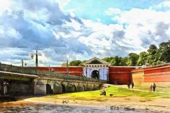 Puerta de Peter And Paul Fortress en St Petersburg libre illustration