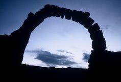 Puerta de piedra Imagen de archivo libre de regalías