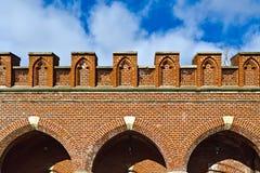 Puerta de Rossgarten - fuerte de Koenigsberg Imagen de archivo libre de regalías