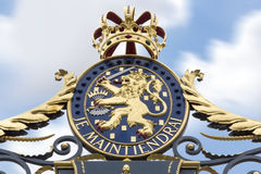 Puerta de Royal Palace Noordeinde Imagenes de archivo