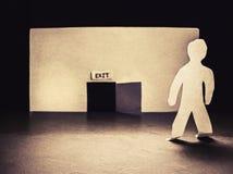 Puerta de salida Imagen de archivo libre de regalías