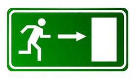 Puerta de salida de emergencia ilustración del vector