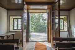 Puerta de salida de madera Imagen de archivo