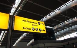 Puerta de salida del aeropuerto Foto de archivo