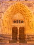 Puerta de San Juan, Catedral de Palencia (Spanien) Royaltyfri Fotografi