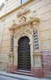 Puerta de San Pedro en la iglesia del santo Peter Martyr en Lucena, provincia de Córdoba, España imagenes de archivo