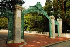 Puerta de Sather, Cal Berkeley Foto de archivo libre de regalías