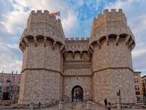 Puerta de Serranos Imagen de archivo libre de regalías